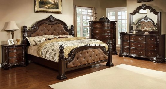 Monte Vista I Bedroom Set in Brown Finish