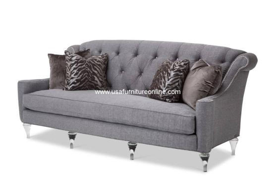 Adele Tufted Sofa with Crystals