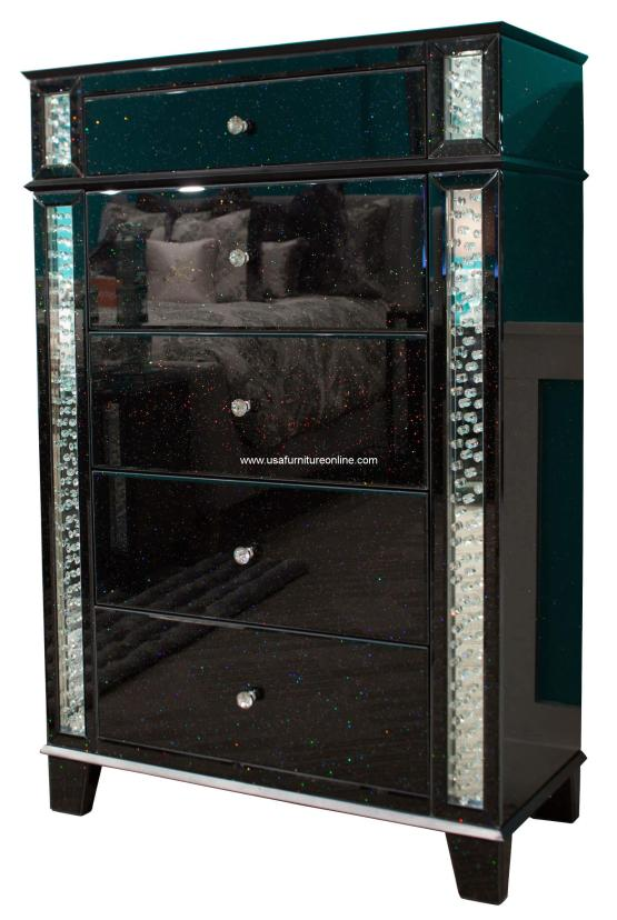 Accent Storage Chest Crystal Inserted AICO