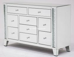 Accent Storage Dresser Crystal Inserted AICO