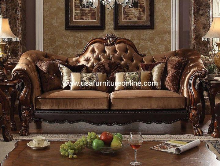 Dresden Sofa Golden Brown Velvet