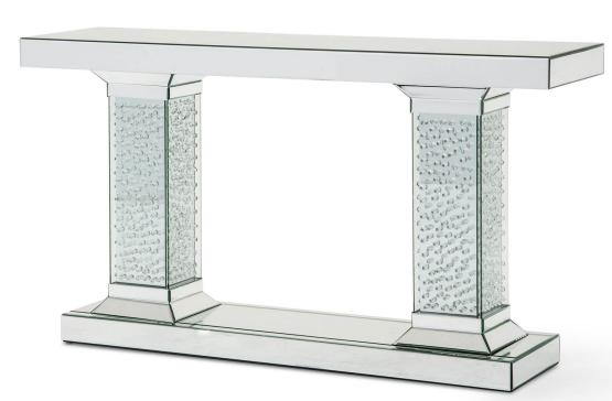 Mirrored Console Table Crystal Accents AICO
