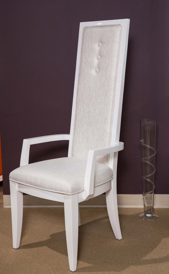 Sky Tower Cloud White Arm Chair