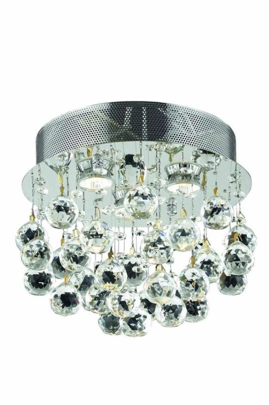 3 Lights Flush Mount Chandelier 2006 Galaxy Collection