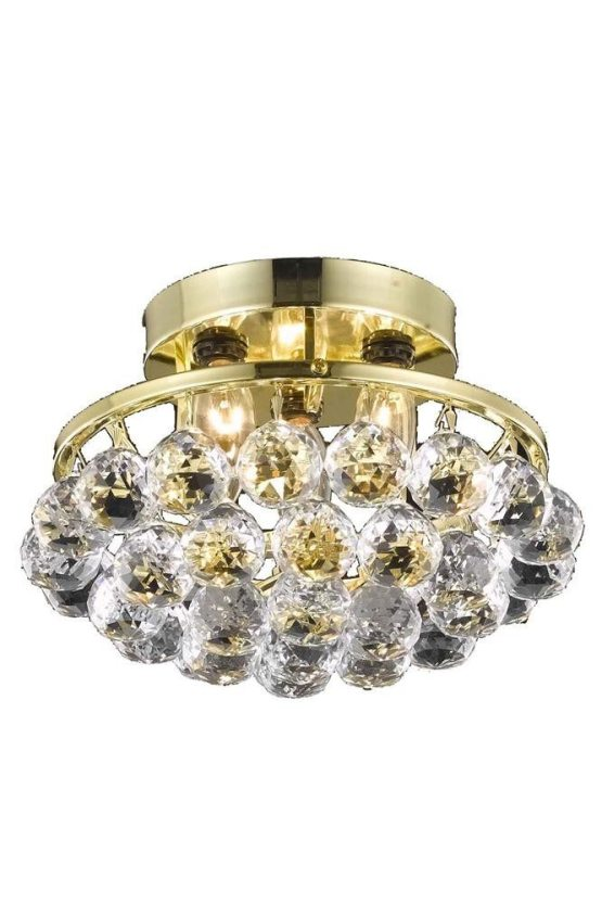 3 Lights Flush Mount Chandelier 9805 Corona Collection