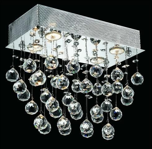 4-LED Lights Flush Mount Chandelier 2021 Galaxy Collection