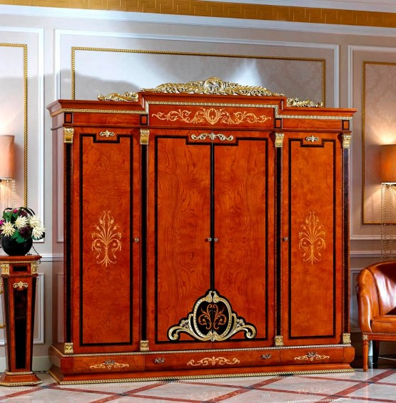 Empire European 4 Door Wardrobe