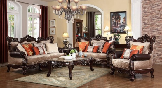 Caesar Sofa Set Dark Brown Mcferran SF6788
