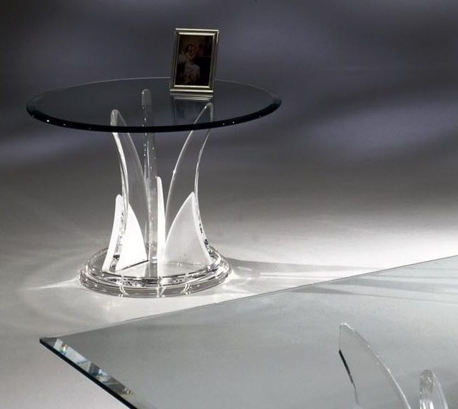 Clear Acrylic Butterfly End Table