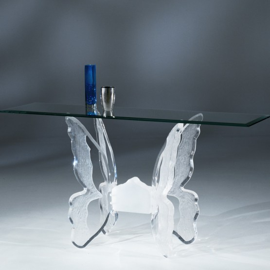 Clear Acrylic Butterfly II Sofa Table