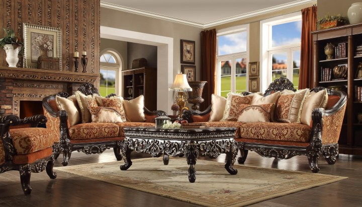 Charlotte Wood Trim Sofa Homey Design Hd 2627 Usa Furniture Online