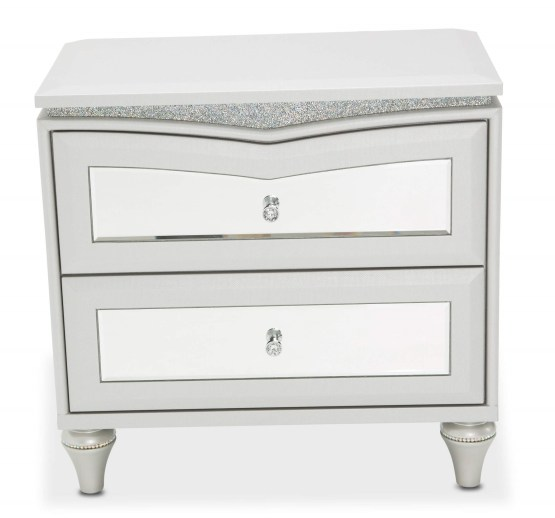 Melrose Plaza Upholstered Nightstand Chest