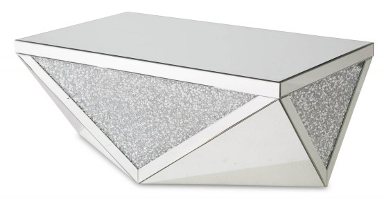 Montreal Cocktail Table Mirror With Crystal AICO