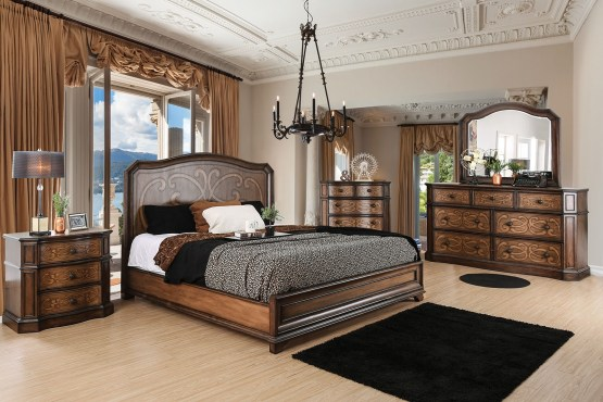 4 Piece Emmaline Wood Panel Bedroom Set