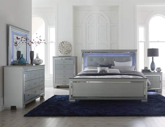 Allura LED Panel Bedroom Set
