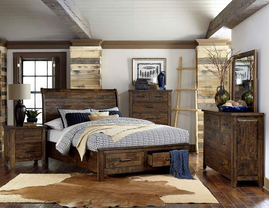 Jerrick Storage Sleigh Bedroom Set