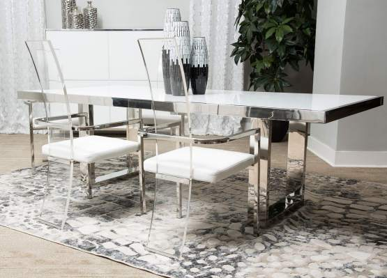 State St Glass Top Dining Set