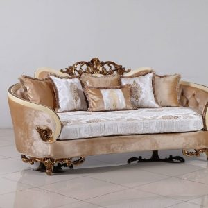 Rosabella Wood Trim Sofa