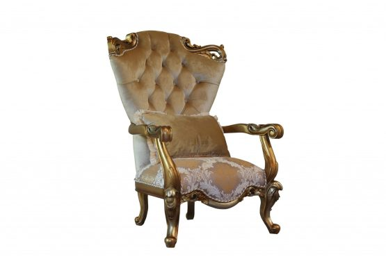 Alexsandra Wood Trim Accent Chair