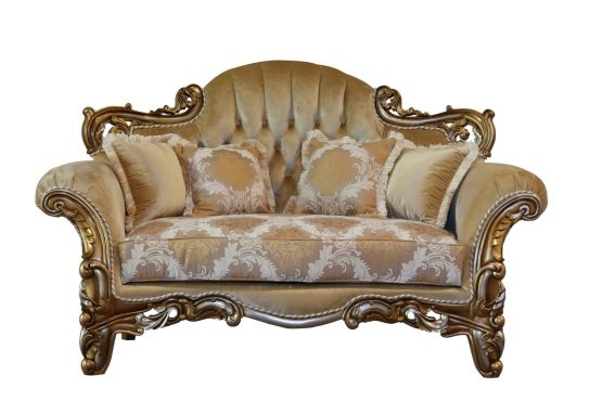 Alexsandra Wood Trim Loveseat