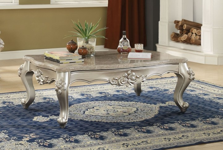 Acme Bently Marble Top Coffee Table