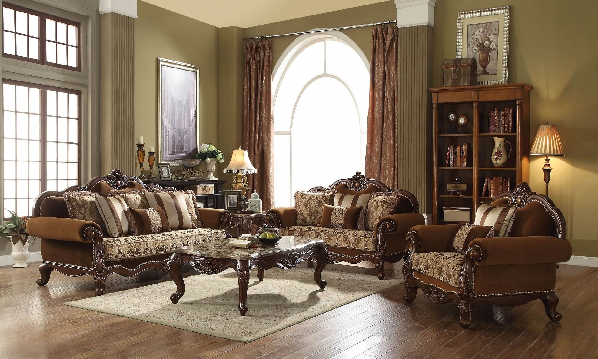 Acme Jardena Traditional Living Room Set - USA Furniture Online