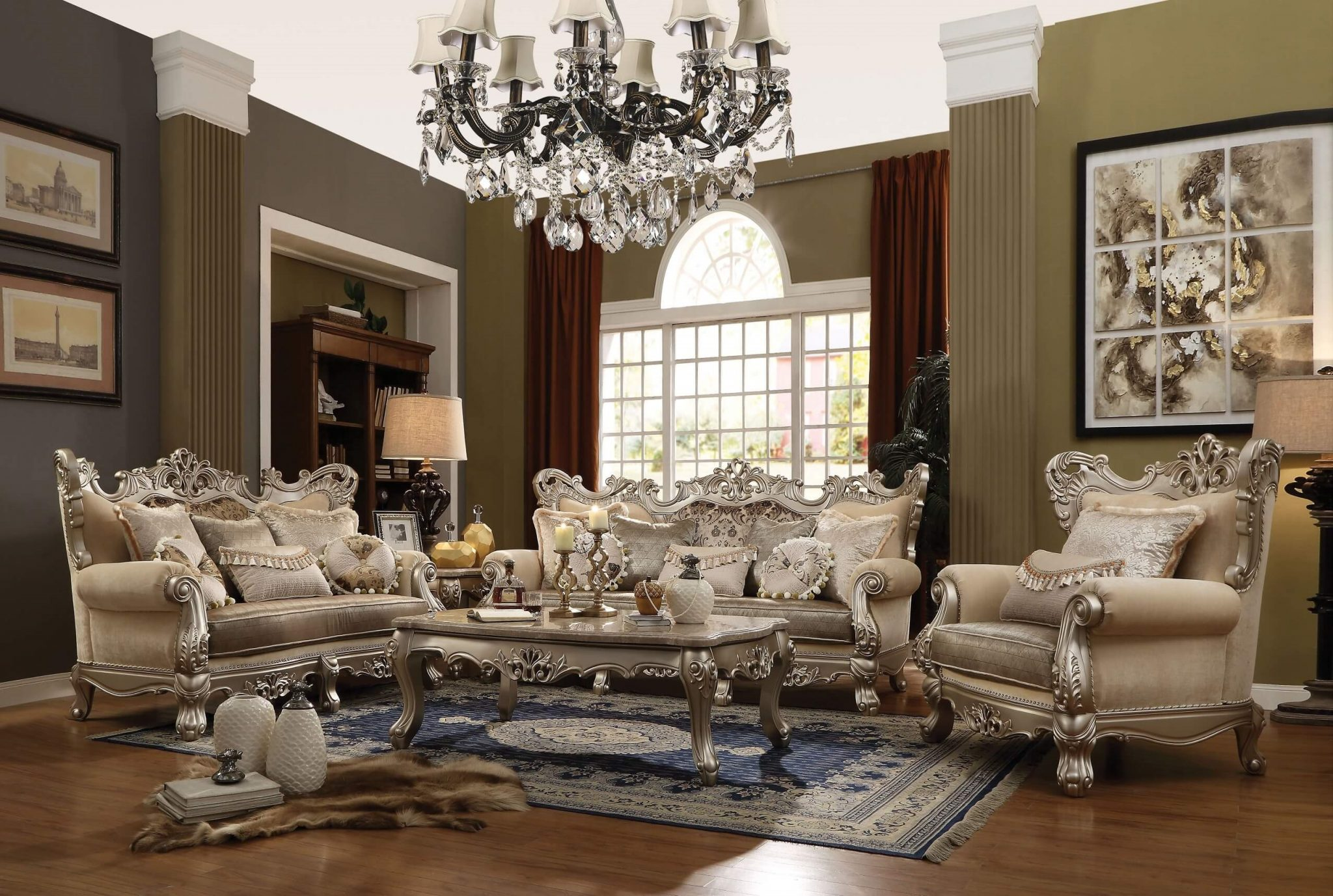 Acme Ranita Traditional Living Room Set - USA Furniture Online
