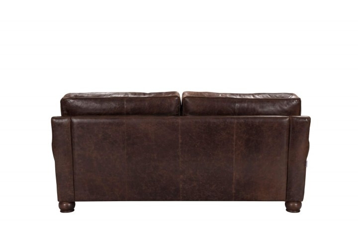 Incredible Columbus Vintage Espresso Italian Leather Sofa Made In Italy Gmtry Best Dining Table And Chair Ideas Images Gmtryco