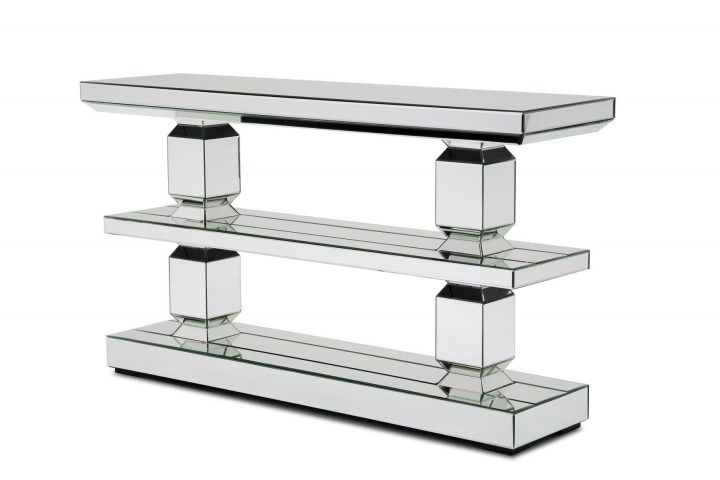 Montreal Mirrored 3-Tier Console Table