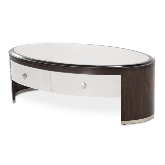 Aico Paris Chic Oval Cocktail Table