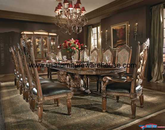 AICO Villa Valencia Rectangular Dining Set