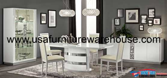 Roma White Dining Set