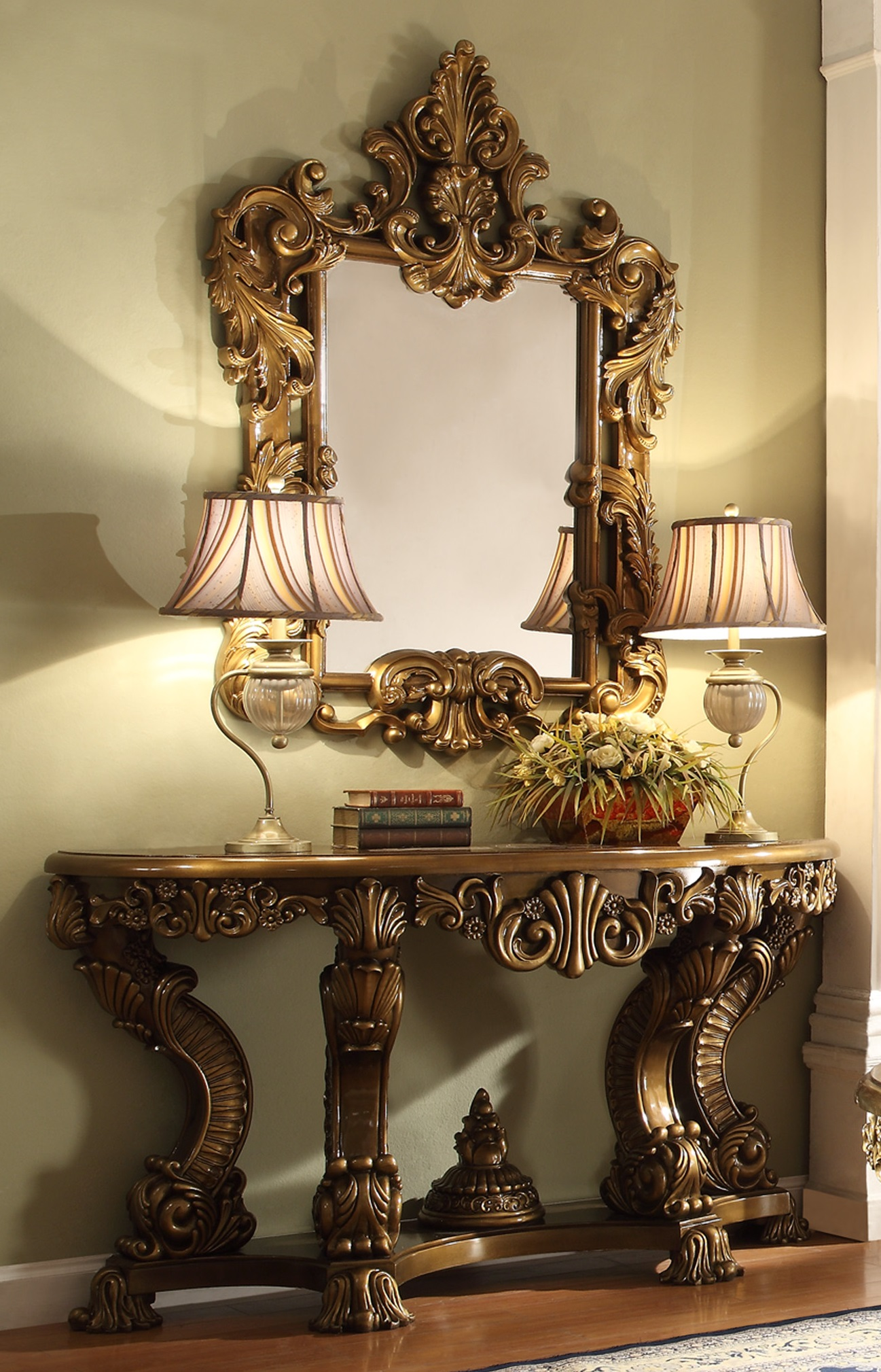 Homey Design HD 8008 Victorian Palace Entrance Table
