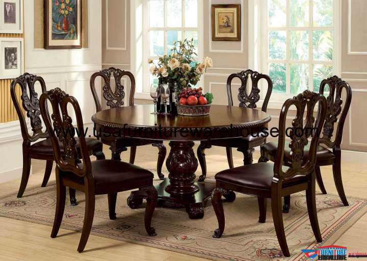Bellagio Round Dining Set with Wooden Side Chair