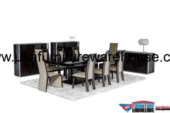 Modrest Noble Modern Lacquer Dining Set
