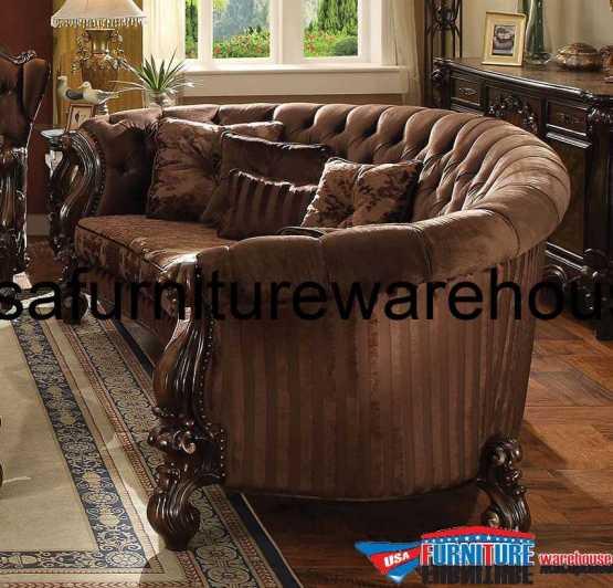 Versailles Sofa Brown Velvet