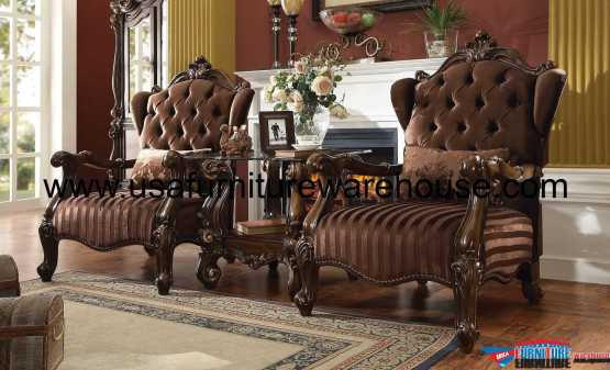 Acme Versailles Accent Chair Brown Velvet
