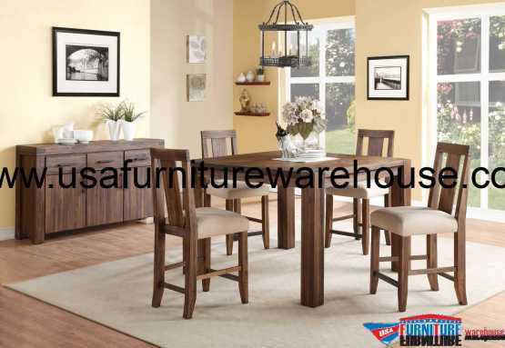 5 Piece Modus Meadow Solid Wood Counter Dining Set