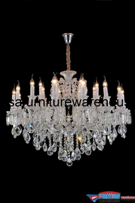 AICO 19 Light Chambord Chandelier Clear Glass