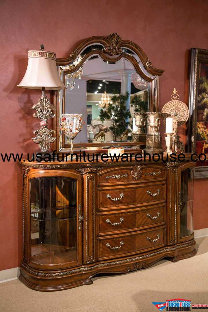 AICO Bella Veneto Sideboard With Mirror