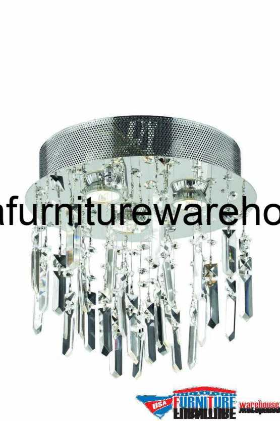 """3 Lights Flush Mount 13"""" Chandelier 2006 Galaxy Collection"""