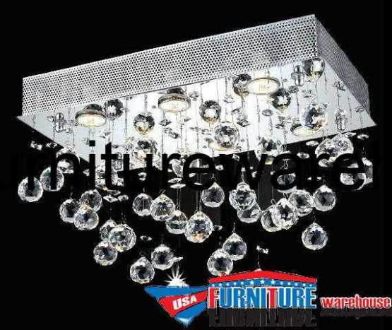 6 Lights Flush Mount Chandelier 2021 Galaxy Collection