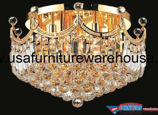 9 Lights Flush Mount Chandelier 8949 Corona Collection