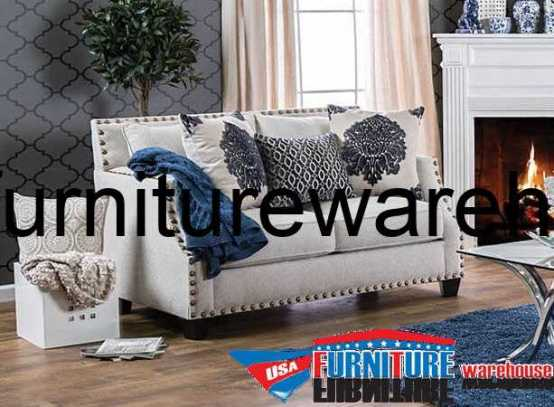 Cornelia Beige Fabric Loveseat SM3070-LV