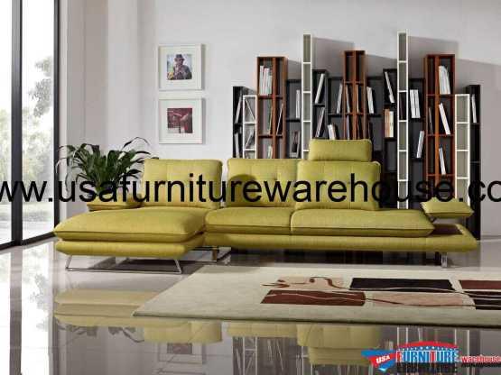 2 Piece Diamond Sofa Eva Adjustable Backrest Sectional