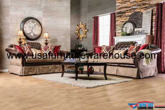Furniture Of America Kinsale Traditional Sofa Set