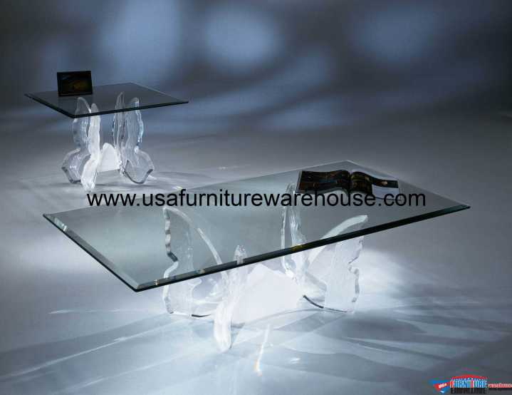 Acrylic Clear Butterfly II Coffee Table