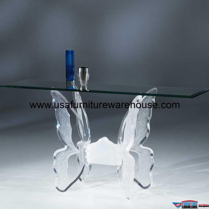 Acrylic Clear Butterfly II Sofa Table
