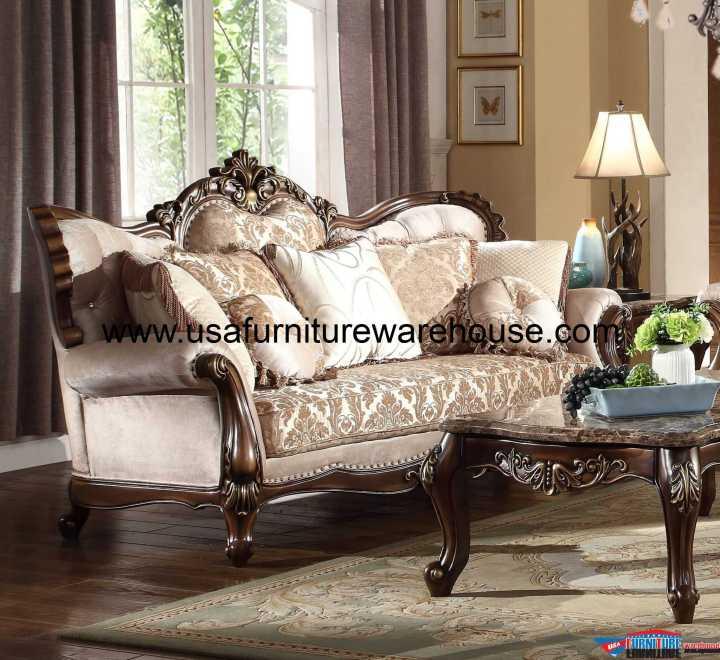 Renaissance Wood Trim Sofa