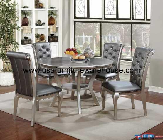 5 Piece Amina Round Dining Set